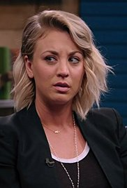 Kaley Cuoco Wears a Black Blazer and Slip on Sneakers